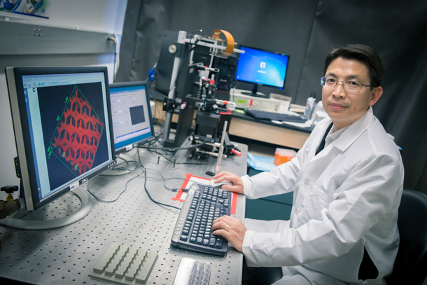 Dr Shaochen Chen At His Computer